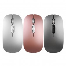2.4 GHZ 800/1200/1600 DPI Wireless USB Charging Ultra-thin Office Mouse for PC Laptop.
