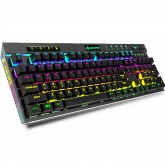 MK12 104 Keys USB Wired Blue Switch RGB Backlit with Hand Rest Mechanical Gaming Keyboard