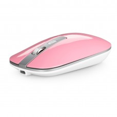 M30 Rechargeable Wireless Mouse Metal Wheel Mute 2.4G Office Mouse 500 mAh Built-in Battery (Pink)