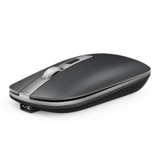M30 Rechargeable Wireless Mouse Metal Wheel Mute 2.4G Office Mouse 500 mAh Built-in Battery (Grey)