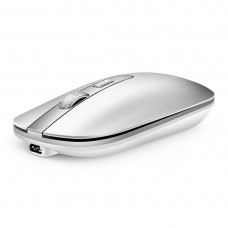 M30 Rechargeable Wireless Mouse Metal Wheel Mute 2.4G Office Mouse 500 mAh Built-in Battery (Silver)