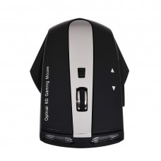 MZ-011 2.4GHz 1600DPI Wireless Rechargeable Optical Mouse with HUB Function (Black)