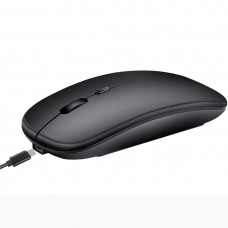 M90 2.4GHz Ultrathin Mute Rechargeable Dual Mode Wireless Bluetooth Notebook PC Mouse (Black)