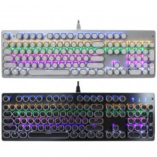 V800 104 key Wired High Special RGB LED Green Switch Mechanical Keyboard for PC Laptop
